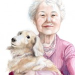 Portrait (My Grandmom and Our Pet Dog (Hiroshima), October 2015)