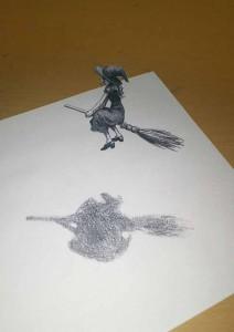 3Dアート習作(魔女)